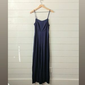 Forever 21 Navy Blue Full Length Jumpsuit Medium